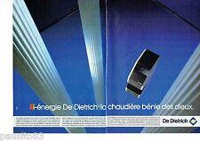 PUBLICITE ADVERTISING 126  1986   De Dietrich (2pages) chaudière bi-energie