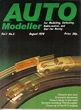 Auto Modeller Vol 1 No 5 August 1979 Slot Mamod Steam Capri Mini Chevrolet Monza