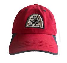 GATEWAY ARCH Hat Cap ST LOUIS MISSOURI Since 1965 Red  Adjustable