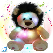Glow Guards 10'' Light Up Stuffed Lion Wildlife Animals Soft Plush Toy With