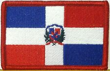 Republica Dominicana  Flag Iron-On Patch Military  Emblem Red  Border  #3