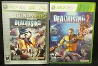 Deadrising 1 + 2 Horror Capcom Zombies - XBOX 360 2 GAME Lot Tested Complete