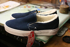 Vans Classic Slip-On (Suede/Fleece)Blue NIB Size USMen's5.5 Women's7 VN0A33TBJ8P