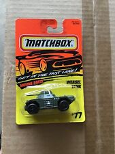 MATCHBOX 1995  MILITARY  ACTION SYSTEM   WEASEL TANK   NUMBER  77   NEW
