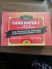100 New CBG Card Saver 1 Semi Rigid For Graded Submissions