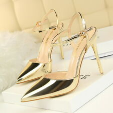 Women Ankle Strap Sandal Open Toe Stiletto High Heels Fashion Pumps Buckle Shoes