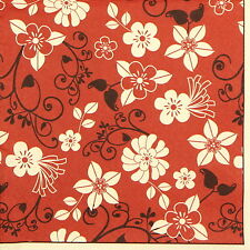 4x Paper Napkins for Decoupage Decopatch Craft Flowers of Red