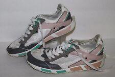 Diesel Anza Trainers / Casual Shoe, #H0650, Wht/Gry/Pk/Grn, Women's US Size 8