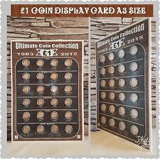 £1 ONE POUND COIN A3 DISPLAY CARD .. CAN BE FRAMED OR STORED/DISPLAYED..no coins