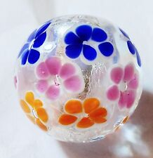"""HANDMADE GLASS MARBLE  """"THAT 70'S MARBLE""""  22mm SHOOTER"""