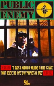 Public Enemy Promo POSTER 1988 Chuck D Flavor Flav Rare
