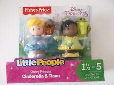 Fisher Price Little People Disney Princess Set  Cinderella and Tiana Figures