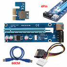 Lot USB 3.0 Pcie PCI-E Express 1x To 16x Extender Riser Card Adapter BTC Cable