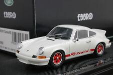 Ebbro 43262 1:43 Porsche 911 Carrera 2.7 RS 1973 Die Cast White No MiniChamps
