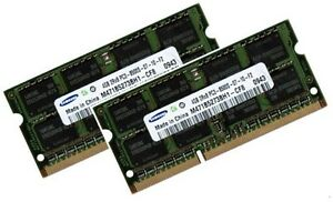 2x 4GB DDR3 RAM 1066 Mhz FUJITSU SIEMENS ESPRIMO X9515
