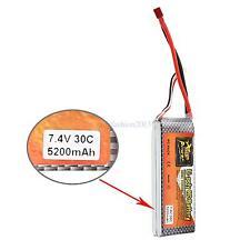 ZOP Power 7.4V 5200mAh 30C Lipo Li-poly Battery T Plug for RC Car Boat Truck