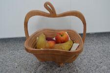 Obstkorb / Untersetzer aus Bambus Apfel, faltbar, NEU + OVP