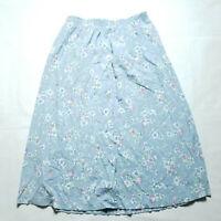 VINTAGE Koret Button Up Floral Skirt  Womens Size Large