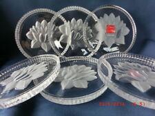 "Glasuntersetzer, 6 Stück, Durchmesser 10 cm Seerose Made in Germany ""NEU"""
