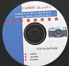 CANON AL-1 AT-1 SUPER Set of Repair  Instruction Manuals on CD :o