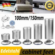 1 Paar Edelstahl Möbelfuß Möbelfüße Sockelfuß Schrankfuße Sofafüße Höhe 5-35cm