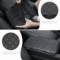 Car Auto Armrest Center Console Pad Cushion Support Leather Arm Rest Cover Black