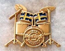 HARD ROCK CAFE STOCKHOLM 3D DRUM SET WITH SWEDISH FLAG PIN # 93537