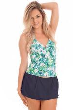 Dippin Daisys Swimwear 2PC Halter Tankini With Skirt Size S-XXL Various Patterns