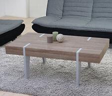 Table basse de salon Kos T575, FSC 40x110x60cm ~ chêne, pieds clairs