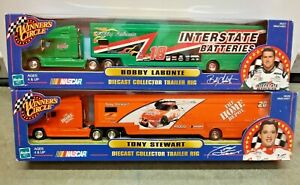 Winners Circle Tony Stewart & Bobby Labonte Diecast Collector Trailer Rigs 1:64