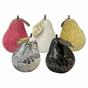 MOSAIC GLASS PEARS - CHOOSE COLOURS - GREAT FOCAL POINT FOR ROOMS