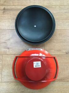 Superb Condition Rare Le Creuset Red Wok & Black Lid See Photos ;-)
