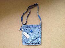 New With Tags Kipling Machida Bag In Wacky Blue Print