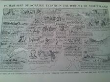1924 Map of Events in History of Switzerland 1 Small Page to Frame?