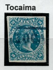 """STAMPS-COLOMBIA. 1877. 20c Blue. SG: 86a. Used """"Tocaima"""" Boxed Cancel."""