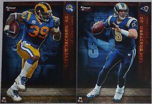 2012 NFL FATHEAD TRADEABLES Lot 2 Sam Bradford Steven Jackson St. Louis Rams