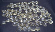 80 ANTIQUE Vintage Octagon Crystal Glass Chandelier-PRISMS 7/8""