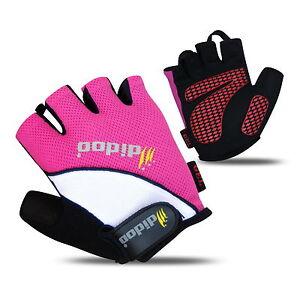 Didoo Men Cycling Gloves Fingerless Bike Half Finger Bicycle Gel Padded Sports
