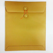 Brown Leather Skin Case Cover Envelope Mailer Bag Pouch For Apple iPad 2 3 4 Air