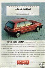 Publicité advertising 1989 Toyota Corolla Hatchback