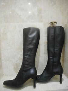 Jones Black Leather Boots Size 5 38