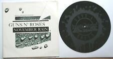 "EX/EX GUNS N ROSES NOVEMBER RAIN SWEET CHILD O' MINE /PATIENCE 12"" Etched Vinyl"