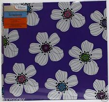 Tapestry Gibson 12x12 Jackie Purple Flower Scrapbook 10 Sheets Protectors NWT