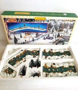 1999 Lemax Mill Stream Complete Set (11 Piece) Christmas Village Landscape Trees