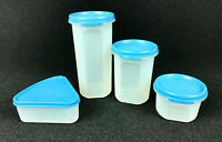 Tupperware Modular Mates #1641 #1606 #1605 & Pie Shape #1799 Storage Containers