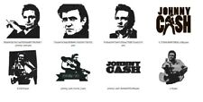 Collection of  8 JOHNNY CASH Embroidery Machine Files PES