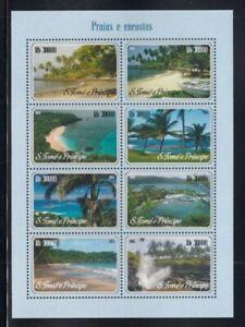 SÃO TOME & PRINCIPE Beaches & Coves MNH sheetlet