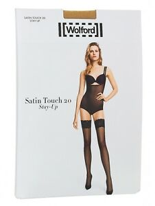 Wolford Satin Touch 20 Stay-Up Thigh Highs  Women's Size L 72103
