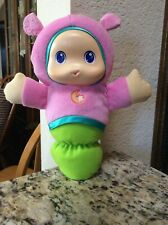 Playskool Musical Light Up Lullaby Gloworm Glow Worm Pink Green Moon Plush 2011