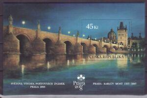 Tschechien Block  26  **   Prag Karlsbrücke Karluv Most  bei Nacht